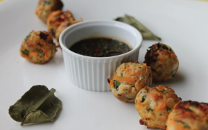 Sweet Potato & Turkey Meatballs with Ginger Dipping Sauce